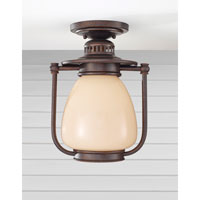 Feiss McCoy 1 Light Outdoor Flush Mount in Grecian Bronze OLPL7413GBZ
