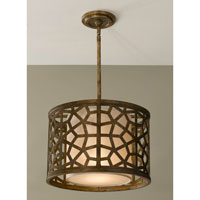 Feiss Medina 1 Light Pendant in Oxidized Bronze P1180OBZ