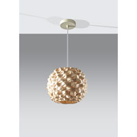Feiss Denmark 1 Light Mini Pendant in Natural Bamboo P1273NB