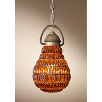 Feiss Wattson 1 Light Mini Pendant in Burnished Silver P1274BUS