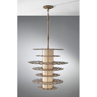 Feiss Lucia 2 Light Mini Chandelier in Burnished Silver P1275BUS