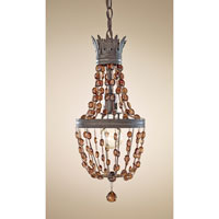 Feiss Marcia 1 Light Mini Chandelier in Rustic Iron P1277RI