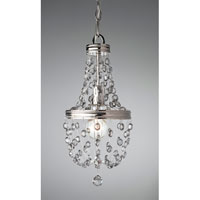 Feiss Malia 1 Light Mini Chandelier in Polished Nickel P1279PN