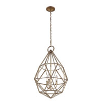 Feiss Marquise 3 Light Pendant in Burnished Silver P1312BUS