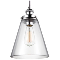 Baskin 1 Light 9 inch Polished Nickel Pendant Ceiling Light in Standard