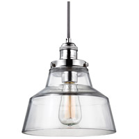 Baskin 1 Light 10 inch Polished Nickel Pendant Ceiling Light in Standard