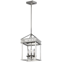 Feiss P1480PN Woodruff 9 inch Polished Nickel Pendant Ceiling Light
