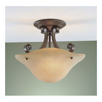 Feiss Tuscan Villa 2 Light Semi Flush Mount in Corinthian Bronze SF177CB