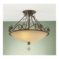 Feiss Chateau 2 Light Semi Flush Mount in Mocha Bronze SF190MBZ