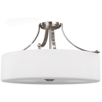 Sunset Drive 22 inch Brushed Steel Semi-Flush Mount Ceiling Light
