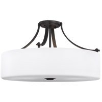 Sunset Drive 22 inch Oil Rubbed Bronze Semi-Flush Mount Ceiling Light