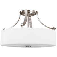 Sunset Drive 16 inch Brushed Steel Semi-Flush Mount Ceiling Light