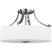 Sunset Drive 16 inch Chrome Semi-Flush Mount Ceiling Light