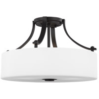 Sunset Drive 16 inch Oil Rubbed Bronze Semi-Flush Mount Ceiling Light
