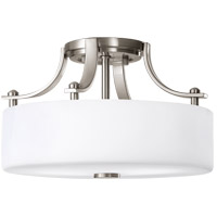 Feiss Sunset Drive 2 Light Semi Flush Mount in Brushed Steel SF259BS alternative photo thumbnail