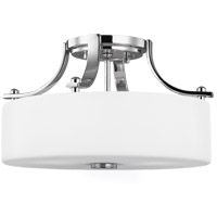 Sunset Drive 13 inch Chrome Semi-Flush Mount Ceiling Light