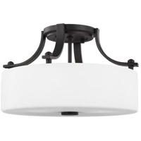 Sunset Drive 13 inch Oil Rubbed Bronze Semi-Flush Mount Ceiling Light