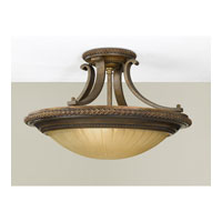 Feiss Kelham Hall 2 Light Semi Flush Mount in Firenze Gold and British Bronze SF262FG/BRB alternative photo thumbnail