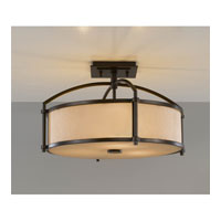 Feiss Preston 3 Light Semi Flush Mount in Heritage Bronze SF270HTBZ