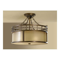 Feiss Justine 3 Light Semi Flush Mount in Astral Bronze SF274ASTB