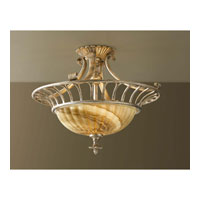 Feiss Bancroft 2 Light Semi Flush Mount in Oxidized Silver Leaf SF277OSL