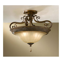Feiss Celine 2 Light Semi Flush Mount in Firenze Silver SF278FSV