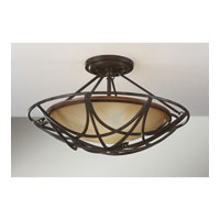 Feiss SF286MBZ El Nido 2 Light 18 inch Mocha Bronze Semi Flush Mount Ceiling Light alternative photo thumbnail