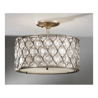 Feiss SF289BUS Lucia 3 Light 16 inch Burnished Silver Semi Flush Mount Ceiling Light in Standard alternative photo thumbnail