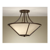 Nolan 3 Light 18 inch Heritage Bronze Semi Flush Mount Ceiling Light in Standard