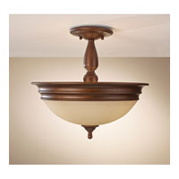 Feiss Yorktown Heights 3 Light Semi Flush Mount in Prescott Bronze SF310PRBZ
