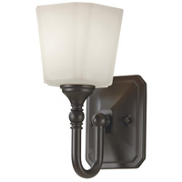 Concord 5 inch Oil Rubbed Bronze Wall Bath Fixture Wall Light in White Opal Etched Cased, 1