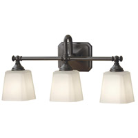 Concord 21 inch Oil Rubbed Bronze Wall Bath Fixture Wall Light in Opal Glass, 3