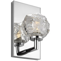 Feiss VS24331CH-L1 Arielle 5 inch Chrome Wall Bath Fixture Wall Light in 1