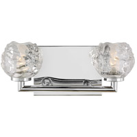 Feiss VS24332CH-L1 Arielle 13 inch Chrome Wall Bath Fixture Wall Light in 2