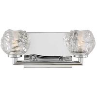 Feiss VS24332CH-L1 Arielle 13 inch Chrome Wall Bath Fixture Wall Light in 2