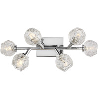 Feiss VS24336CH-L1 Arielle 23 inch Chrome Wall Bath Fixture Wall Light in 6