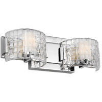 Feiss VS24342CH-L1 Brinton LED 16 inch Chrome Wall Bath Fixture Wall Light in Clear Basketweave, 2