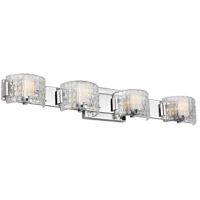 Feiss VS24344CH-L1 Brinton LED 33 inch Chrome Wall Bath Fixture Wall Light in Clear Basketweave 4