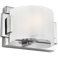 Feiss VS24351CH-L1 Brinton LED 8 inch Chrome Wall Bath Fixture Wall Light in Chunky Sugar Glass, 1