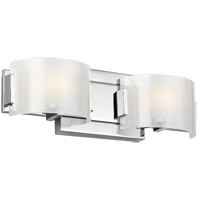 Feiss VS24352CH-L1 Brinton LED 16 inch Chrome Wall Bath Fixture Wall Light in Chunky Sugar Glass, 2