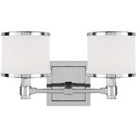 Feiss VS24372CH-L1 Winter Park 14 inch Chrome Wall Bath Fixture Wall Light in 2