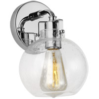 Feiss VS24401CH Clara 6 inch Chrome Wall Bath Fixture Wall Light in 1