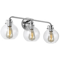 Feiss VS24403CH Clara 24 inch Chrome Wall Bath Fixture Wall Light in 3