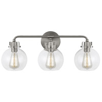 Feiss VS24403SN Clara 24 inch Satin Nickel Wall Bath Fixture Wall Light in 3