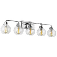 Feiss VS24405CH Clara 40 inch Chrome Wall Bath Fixture Wall Light in 5