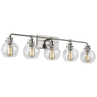 Feiss VS24405SN Clara 40 inch Satin Nickel Wall Bath Fixture Wall Light in 5