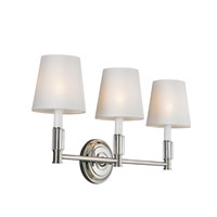 Feiss Lismore 3 Light Vanity Strip in Polished Nickel VS43003-PN