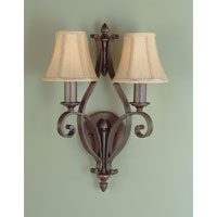 Feiss Tuscan Villa 2 Light Wall Bracket in Corinthian Bronze WB1195CB alternative photo thumbnail