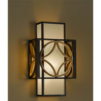 Feiss Remy 1 Light Wall Bracket in Heritage Bronze and Parissiene Gold WB1446HTBZ/PGD