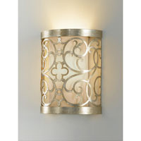 Feiss Arabesque 1 Light Wall Bracket in Silver Leaf Patina WB1485SLP